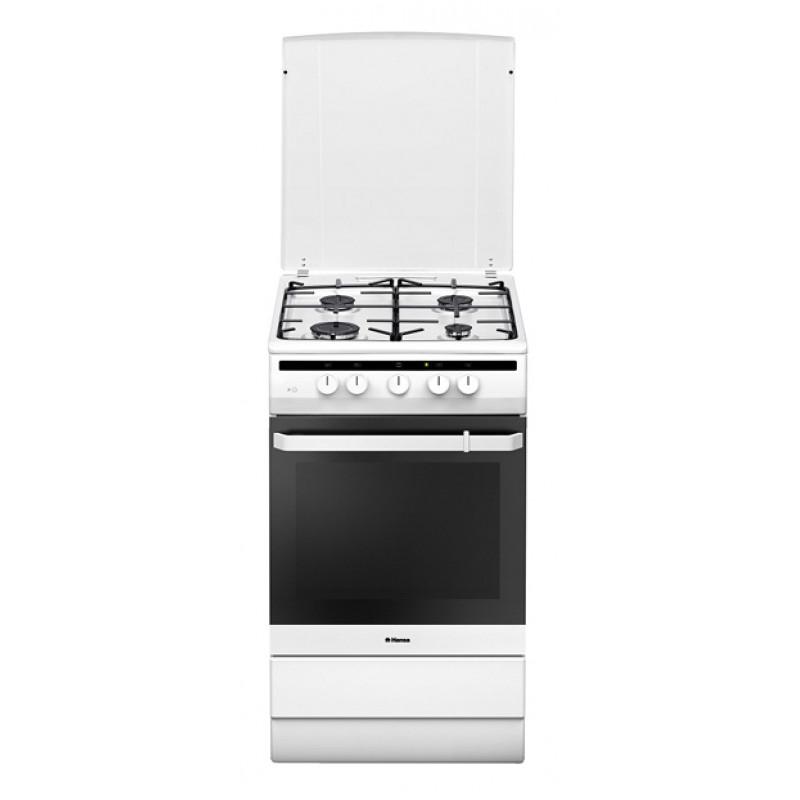 Плита Комбинированная Hansa FCMW53010 белый (металлическая крышка)