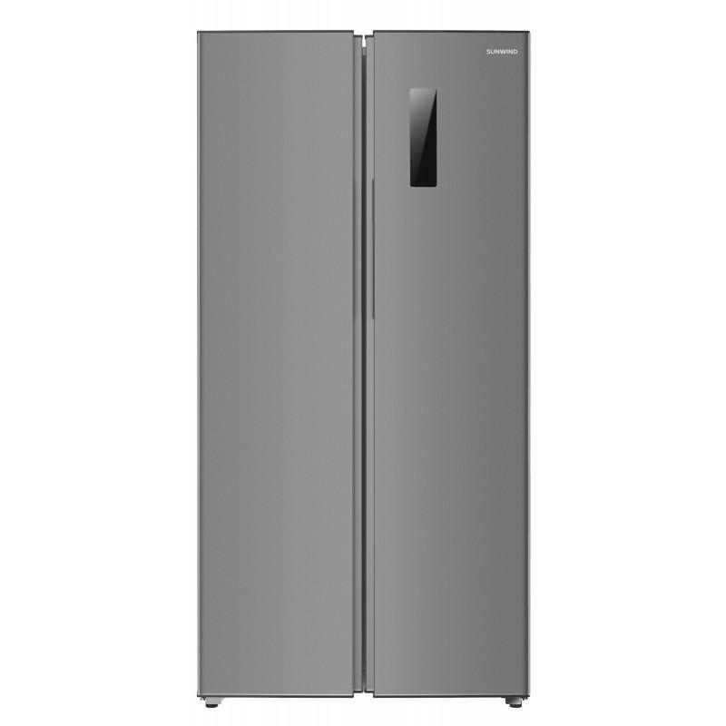 Холодильник SunWind SCS454F нержавеющая сталь (двухкамерный)