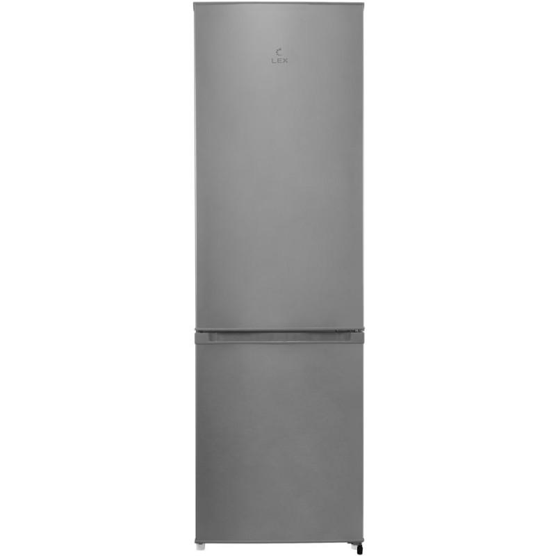 Холодильник Lex RFS 202 DF IX серебристый металлик (двухкамерный)