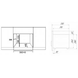 Микроволновая печь Maunfeld JBMO.20.5S 20л. 700Вт нержавеющая сталь/черный (встраиваемая)