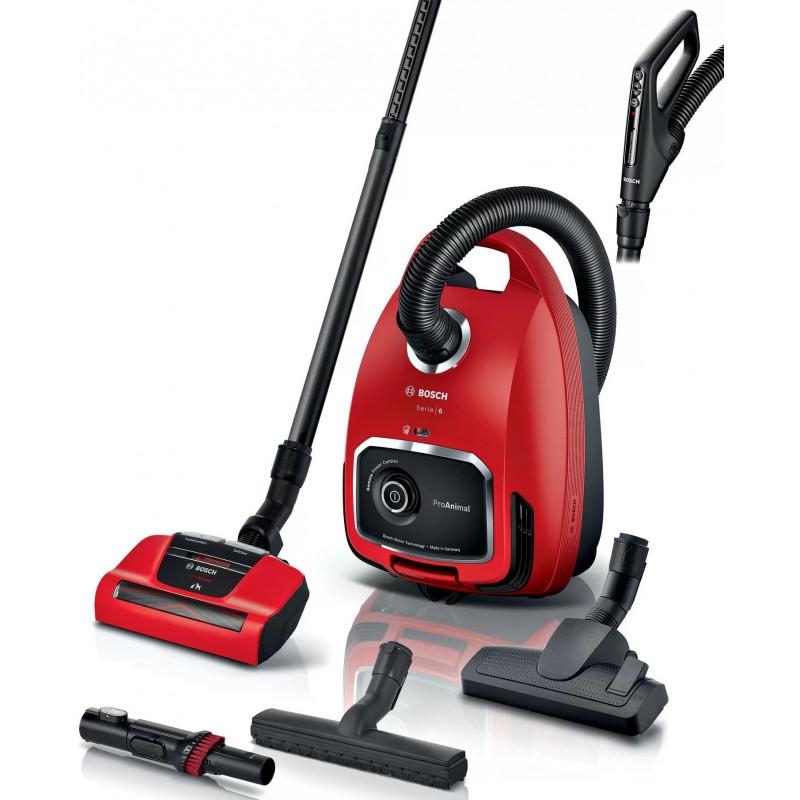Пылесос Bosch BGL6PET1 красный/черный