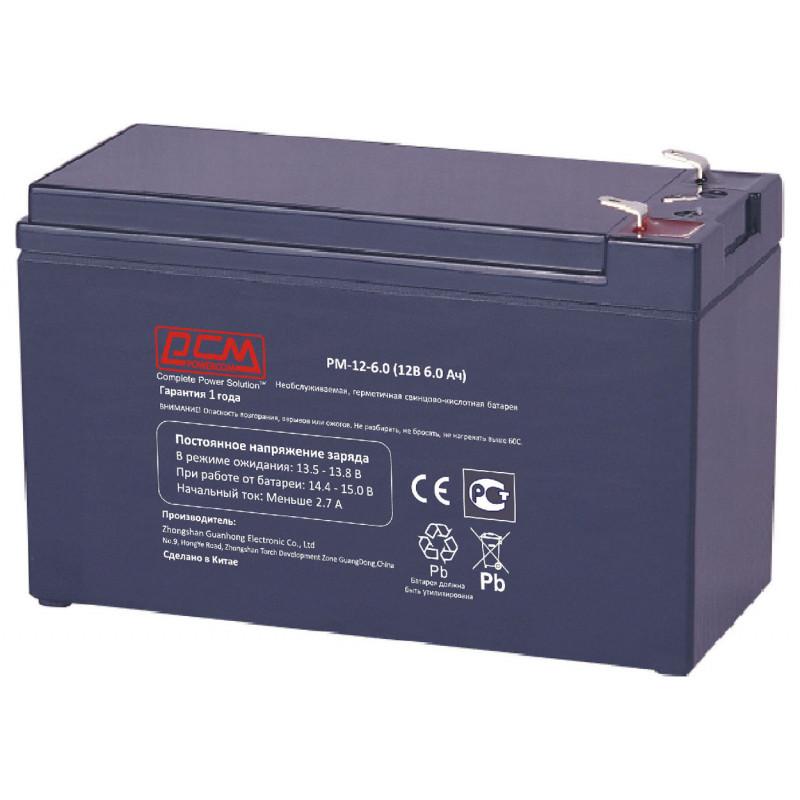 Батарея для ИБП Powercom PM-12-6.0 12В 6Ач