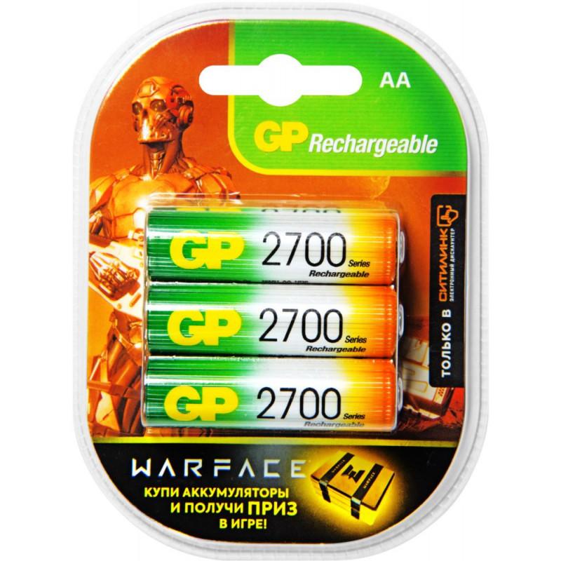 Аккумулятор GP Rechargeable 2700AAHC AA NiMH 2700mAh (6шт) блистер