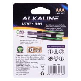 Батарея Deli E18505 AAA (4шт) блистер