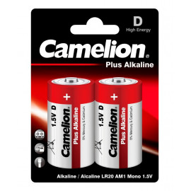 Батарея Camelion Plus Alkaline LR20-BP2 D 20000mAh (2шт) блистер