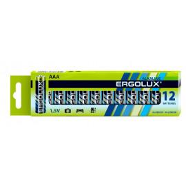 Батарея Ergolux Alkaline LR03 BP-12 AAA 1150mAh (12шт) коробка