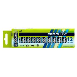 Батарея Ergolux Alkaline LR6 BP-12 AA 2800mAh (12шт) коробка