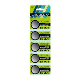 Батарея Ergolux Lithium CR2016-BP5 CR2016 75mAh (5шт) блистер