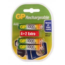 Аккумулятор GP Rechargeable 1000AAAHC4/2 AAA NiMH 1000mAh (6шт) блистер