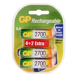 Аккумулятор GP Rechargeable 2700AAHC4/2 AA NiMH 2700mAh (6шт) блистер