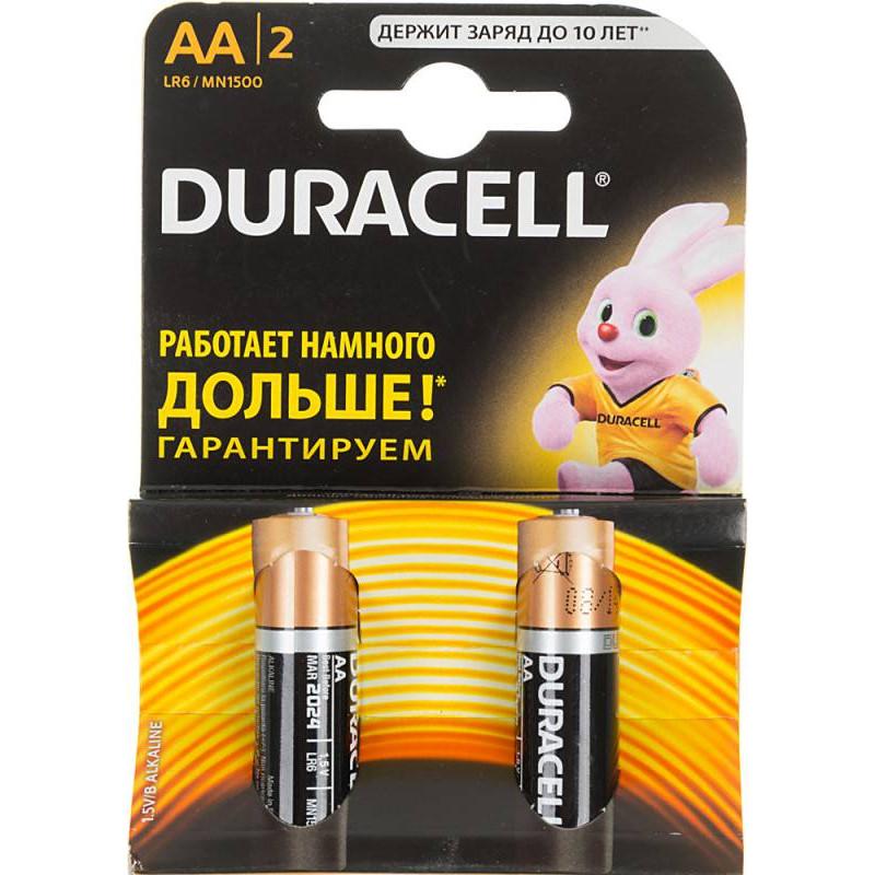 Батарея Duracell Basic LR6-2BL AA (2шт)