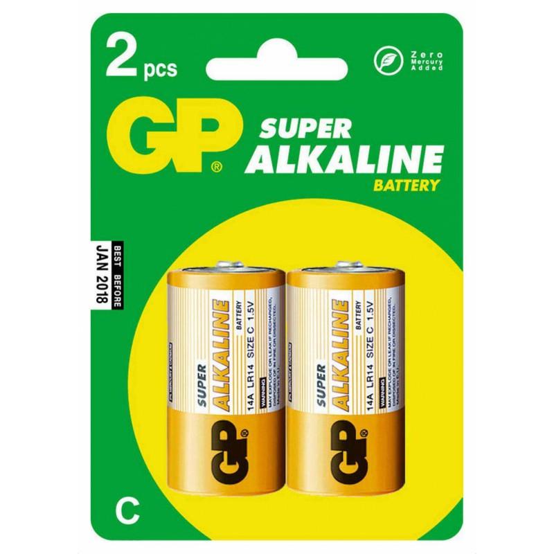 Батарея GP Super Alkaline 14A LR14 C (2шт)