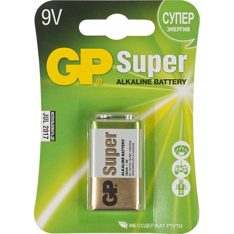 Батарея GP Super Alkaline 1604A 6LR61 9V (1шт)