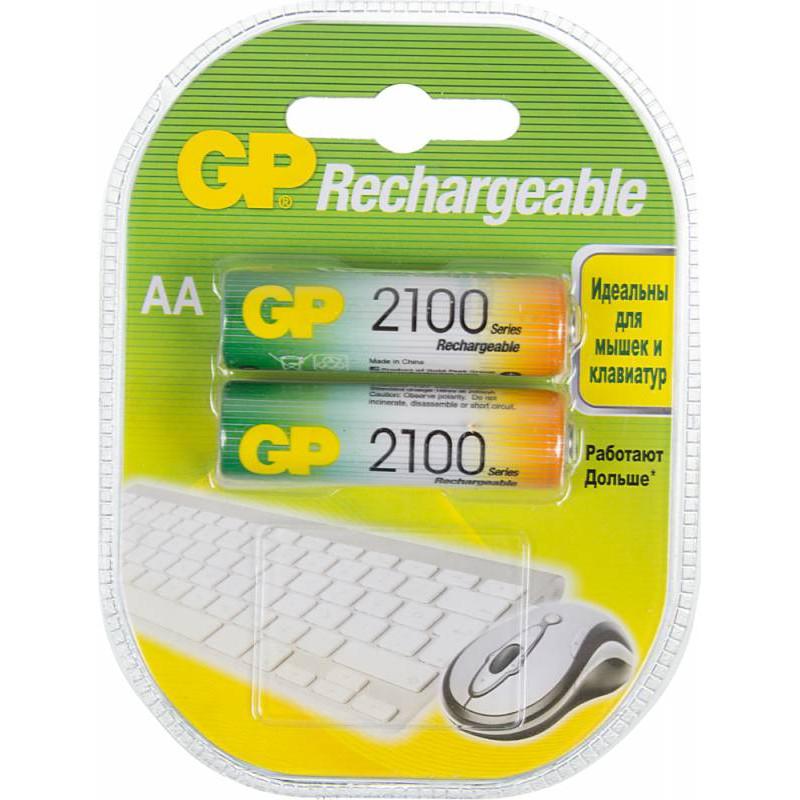 Аккумулятор GP 210AAHC AA NiMH 2100mAh (2шт)