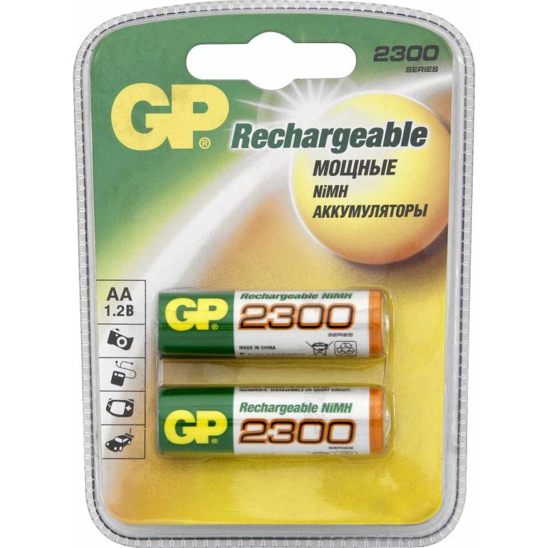 Аккумулятор GP 230AAHC AA NiMH 2250mAh (2шт)