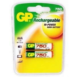 Аккумулятор GP 75AAAHC AAA NiMH 750mAh (2шт)
