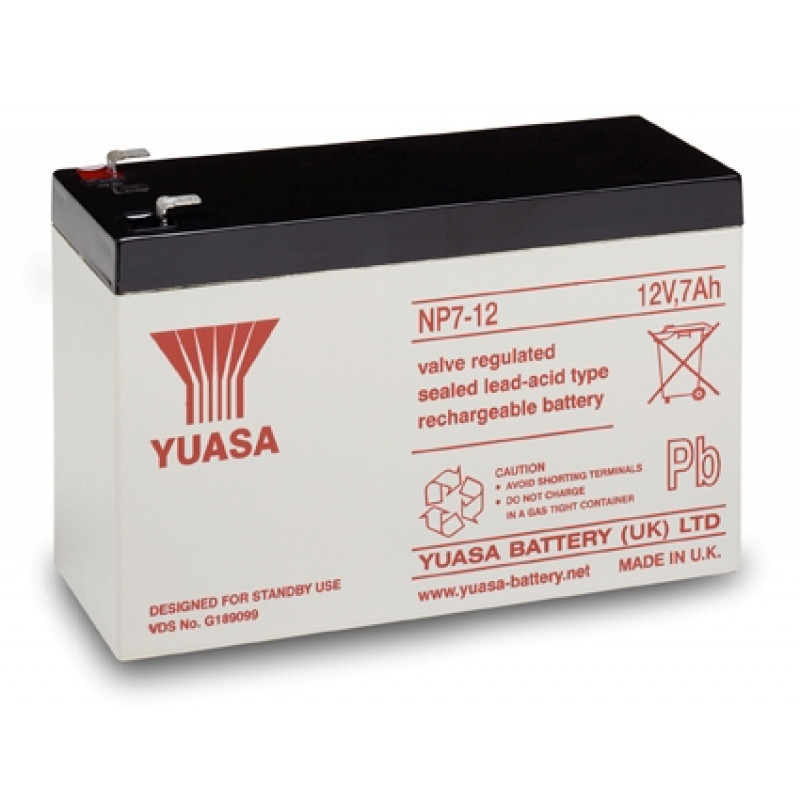 Батарея для ИБП Yuasa NP7-12 12В 7Ач