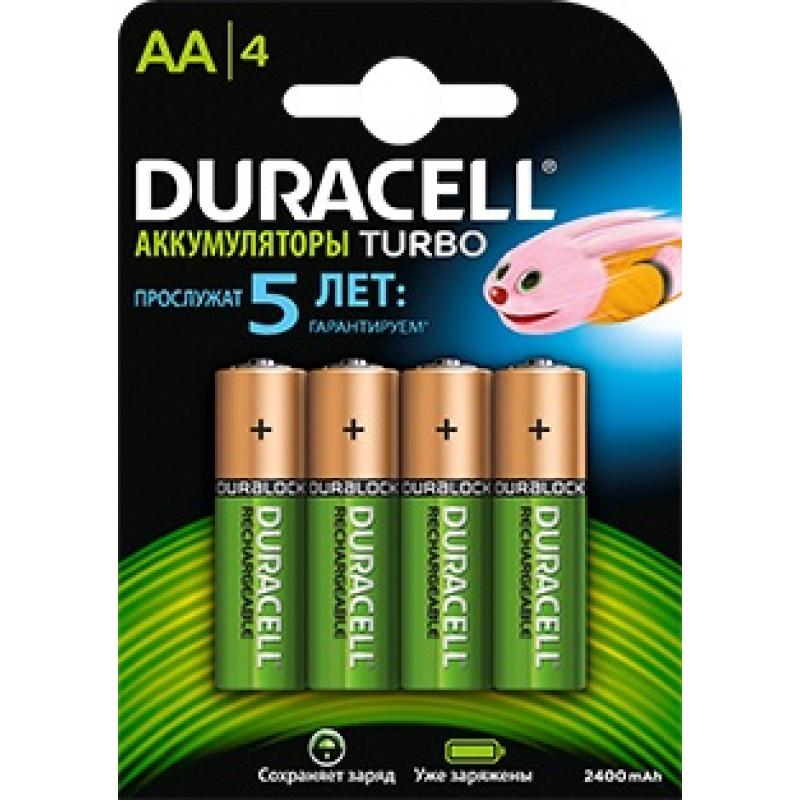 Аккумулятор Duracell Rechargeable HR6-4BL AA NiMH 2500mAh (4шт)