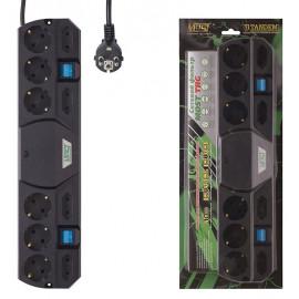 Сетевой фильтр Most TRG 5м (10 розеток) черный (коробка)