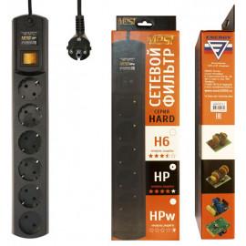 Сетевой фильтр Most HP 5м (6 розеток) черный (коробка)