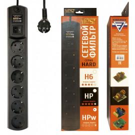 Сетевой фильтр Most HPw 2м (6 розеток) черный (коробка)