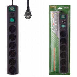 Сетевой фильтр Most RG 2м (6 розеток) черный (коробка)