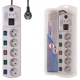 Сетевой фильтр Most EHV 5м (5 розеток) белый (коробка)