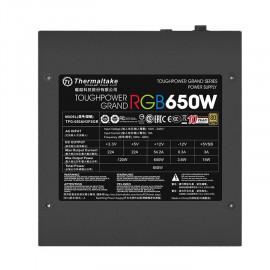 Блок питания Thermaltake ATX 650W Toughpower Grand RGB Sync 80+ gold (24+4+4pin) APFC 140mm fan color LED 9xSATA Cab Manag RTL