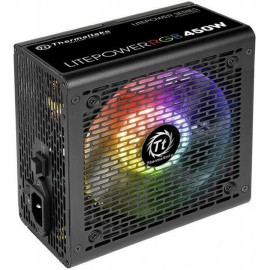 Блок питания Thermaltake ATX 450W Litepower RGB 450 (24+4+4pin) APFC PPFC 120mm fan color LED 4xSATA RTL
