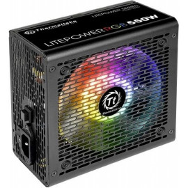 Блок питания Thermaltake ATX 550W Litepower RGB 550 (24+4+4pin) APFC 120mm fan color LED 5xSATA RTL