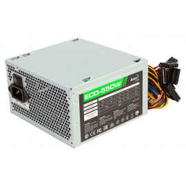 Блок питания Aerocool ATX 550W ECO-550 (24+4+4pin) 120mm fan 4xSATA RTL