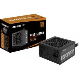 Блок питания Gigabyte ATX 550W GP-P550B 80+ bronze (24+4+4pin) APFC 120mm fan 6xSATA RTL