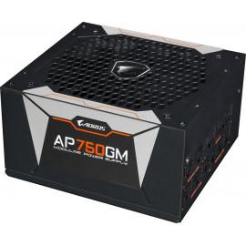 Блок питания Gigabyte ATX 750W AORUS GP-AP750GM 80+ gold 24+2x(4+4) pin APFC 135mm fan 6xSATA Cab Manag RTL