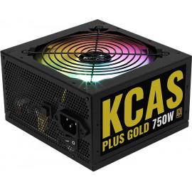 Блок питания Aerocool ATX 750W KCAS PLUS GOLD 750W RGB 80+ gold 24+2x(4+4) pin APFC 120mm fan color LED 8xSATA RTL