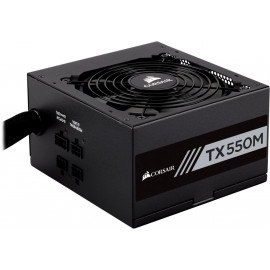 Блок питания Corsair ATX 550W TX550M 80+ gold (24+4+4pin) APFC 120mm fan 5xSATA Cab Manag RTL