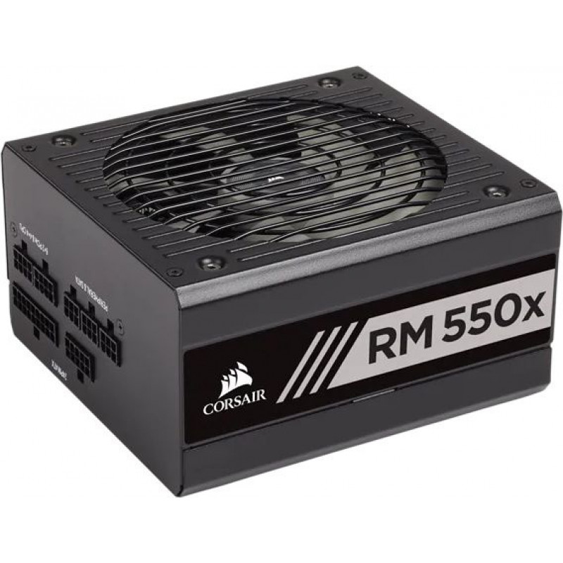 Блок питания Corsair ATX 550W RM550X 80+ gold (24+4+4pin) APFC 140mm fan 6xSATA Cab Manag RTL