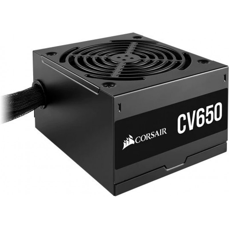 Блок питания Corsair ATX 650W CV650 80+ bronze (24+4+4pin) APFC 120mm fan 7xSATA RTL