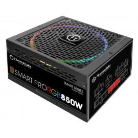 Блок питания Thermaltake ATX 850W SMART PRO RGB 80+ bronze (24+4+4pin) APFC 140mm fan color LED 9xSATA Cab Manag RTL