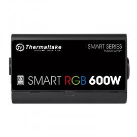Блок питания Thermaltake ATX 600W Smart RGB 600 80+ (24+4+4pin) APFC 120mm fan color LED 5xSATA RTL