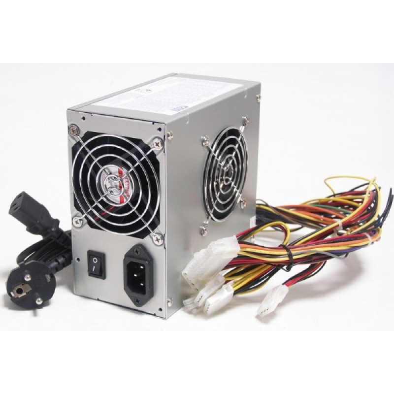 Блок питания LinkWorld ATX 450W LW2-450W (24+4pin) 80mm fan 4xSATA RTL
