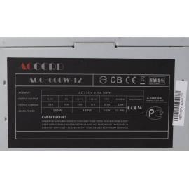 Блок питания Accord ATX 600W ACC-600W-12 (24+4+4pin) 120mm fan 4xSATA