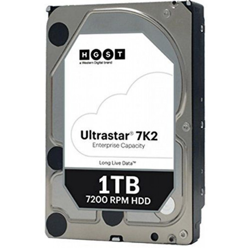 Жесткий диск WD Original SATA-III 1Tb 1W10001 HUS722T1TALA604 Ultrastar DC HA210 (7200rpm) 128Mb 3.5