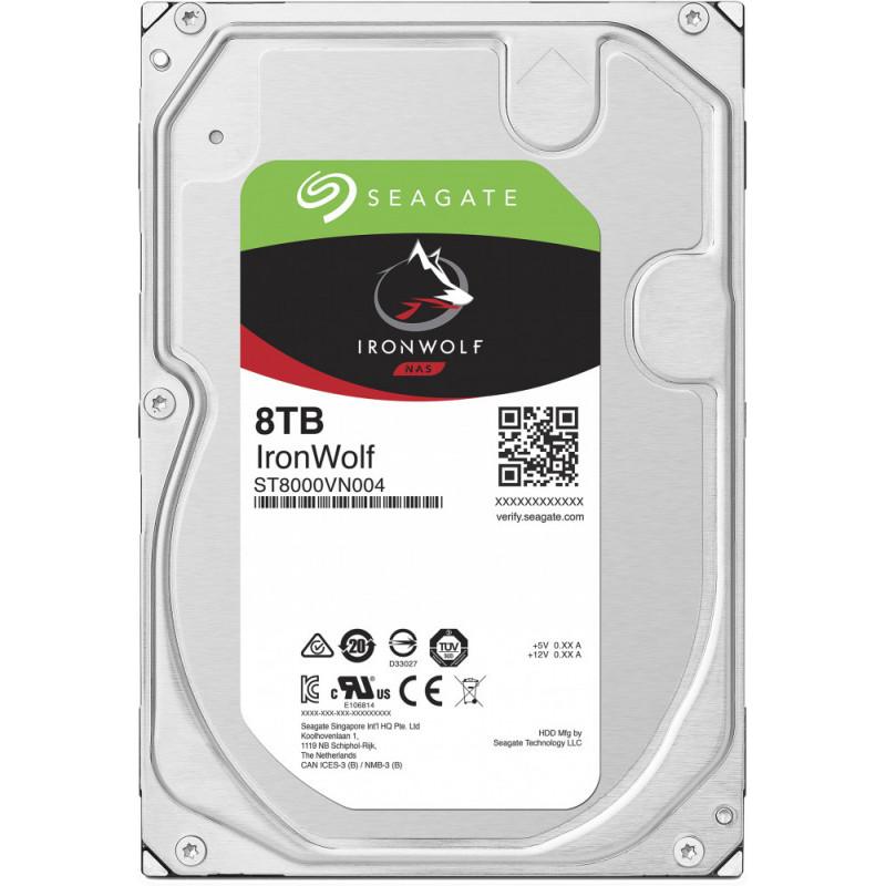 Жесткий диск Seagate Original SATA-III 8Tb ST8000VN004 NAS Ironwolf (7200rpm) 256Mb 3.5