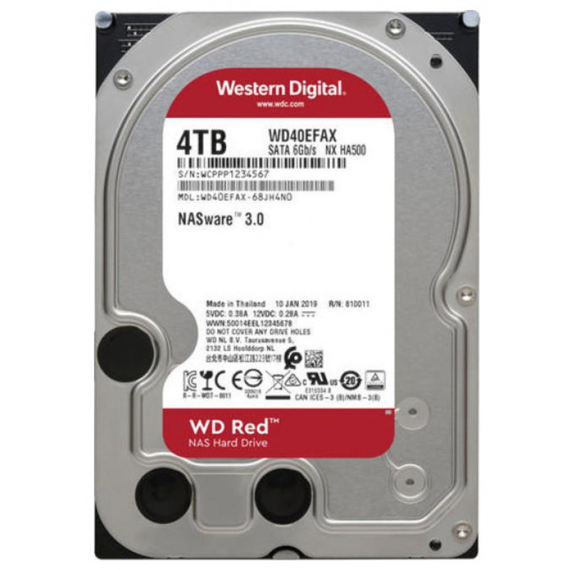 Жесткий диск WD Original SATA-III 4Tb WD40EFAX Red (5400rpm) 256Mb 3.5