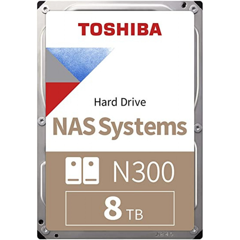 Жесткий диск Toshiba SATA-III 8Tb HDWG180UZSVA NAS N300 (7200rpm) 256Mb 3.5