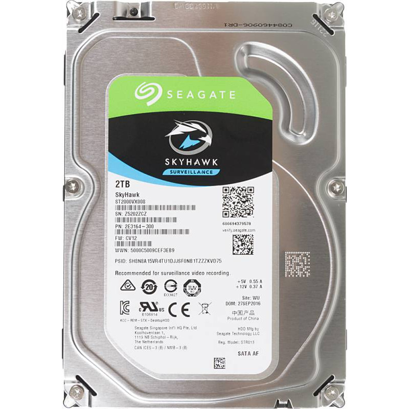 Жесткий диск Seagate Original SATA-III 2Tb ST2000VX008 Video Skyhawk (5900rpm) 64Mb 3.5