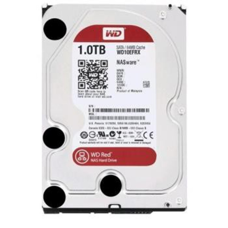 Жесткий диск WD Original SATA-III 1Tb WD10EFRX NAS Red (5400rpm) 64Mb 3.5