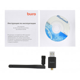 Адаптер USB Buro BU-BT40С Bluetooth 4.0+EDR class 1 100м черный