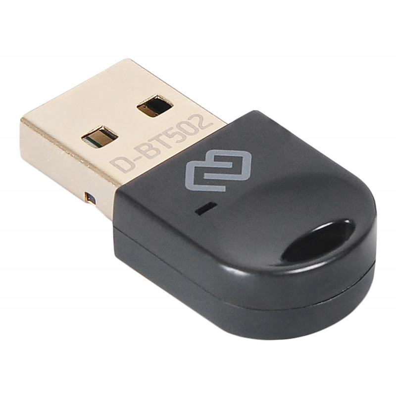 Адаптер USB Digma D-BT502 Bluetooth 5.0+EDR class 1.5 20м черный
