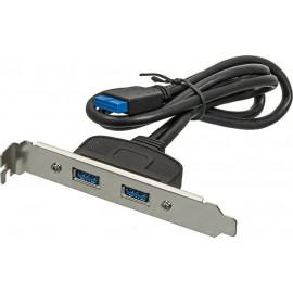 Адаптер USB Bracket 2xUSB3.0 Bulk